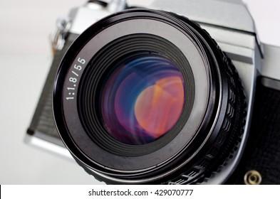 SLR camera. Close up