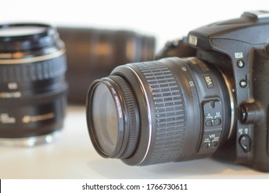 SLR camera and lens for photography