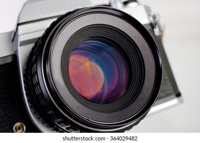 SLR camera.Close up.