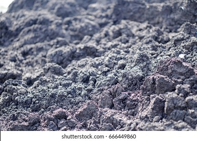 Sludge dry cake in wastewater treatment.