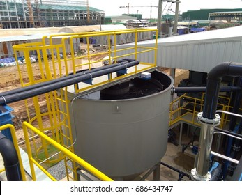 Sludge thickener tank  in the waste water treatment plant