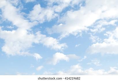 sluds blue sky, day landscape