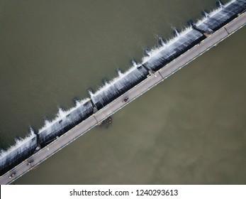 Sluice and bridge