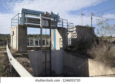 Sluice gate on small Aquaduct in Spain
