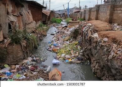 slum Kibera in Nairobi Africa