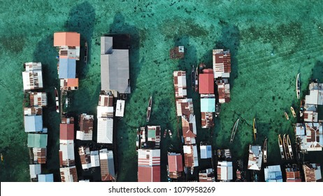 Slum, poverty. Poor village in Asia
