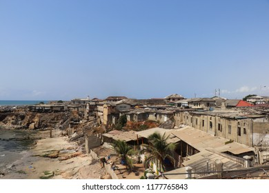 slum ruin village ghetto waste trash old aged house houses outdoor building travel