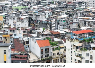 Slums of Macau, high density districts