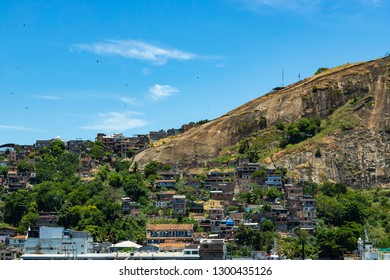 Slums of the world. Favelas of Brazil. Slum in the city of Niteroi, Penha Hill slum.