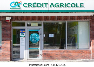 Slupsk, Poland - April, 2018: Credit Agricole bank company