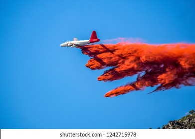 Slurry Bombers fight wildfires, aerial firefight. Wildfire fight in Utah.