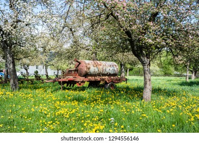 slurry tank trailer in a Spring Meadows