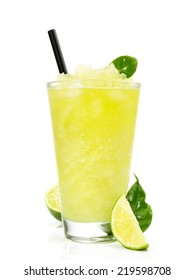 Slush Ice Cocktail with Lime