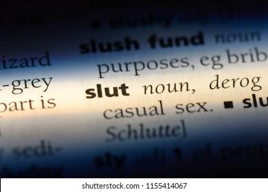 slut word in a dictionary. slut concept.