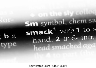 smack word in a dictionary. smack concept.