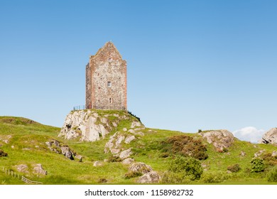Smailholm Tower.  The tower in the Scottish Borders was build in the 1400's as protection from border raiders and the elements.