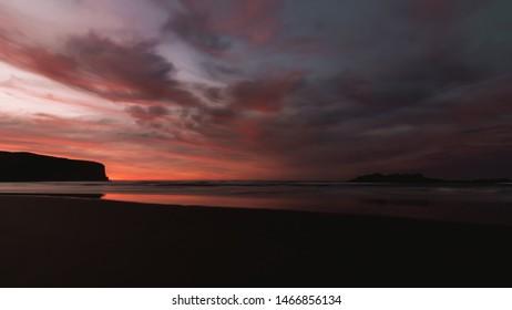 Smails Beach and Bird Island dawn 27th July