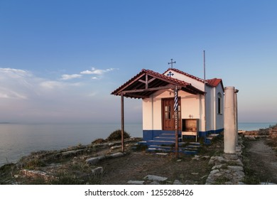 Smal orthodox church in Thassos town, Greece