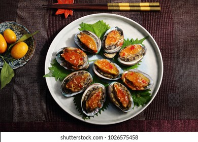 small abalone on plate