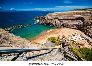 small Abama beach on the west coast of Tenerife, Canary islands, Spain