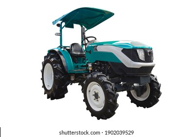 Small agricultural tractor, front view
