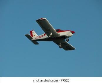 Small aircraft in flight