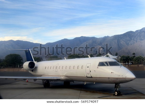 Small airplane in Palm Springs, California, USA