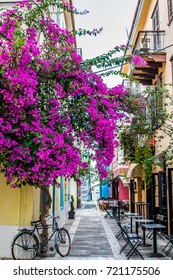 A small alley at nafplio very colorful
