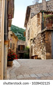 A small alley in a village in southern France