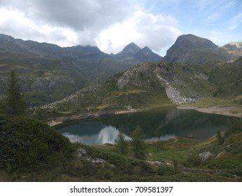 Small alpine lake on the Bergamo Alps, northern Italy