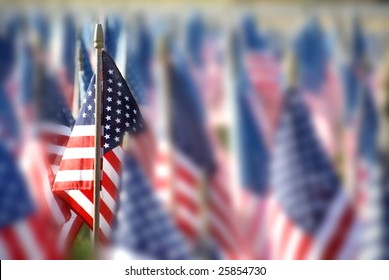 small american flags