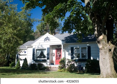 A small American one story home.  Real Estate Investment.