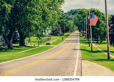 Small American Town on 4th july