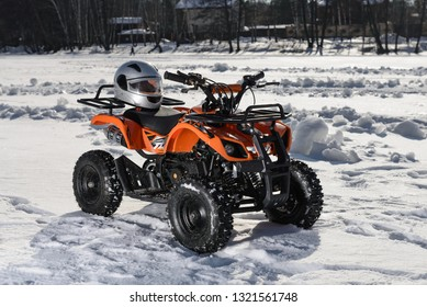 Small atv before the race