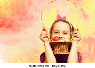 Small Baby Girl Cute Child Happy Stock Photo Edit Now 616187249