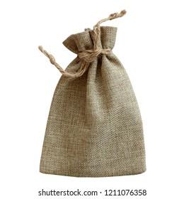 small bag sacking isolated on white background.
