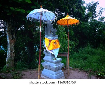 Small Balinese Shrine In The Park At Wanagiri Village, Buleleng, Bali, Indonesia
