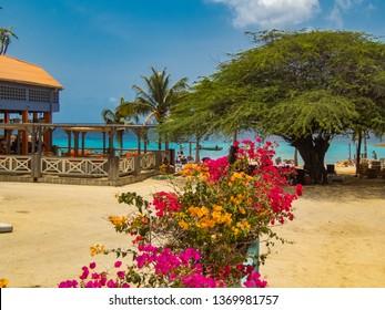 Small beach on the Caribbean island of Curacao
