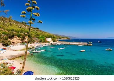 Small beach on the island of Hvar, Coratia