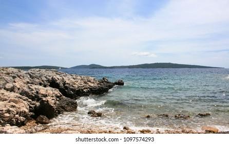 small beach on the island Losinj, Croatia