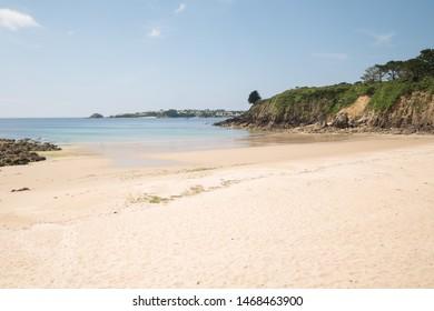 A small beach under the sun