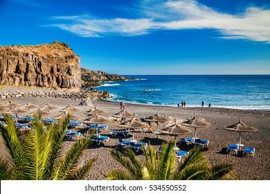 small beach in the village Callao Salvaje in Tenerife, Canary Islands, Spain