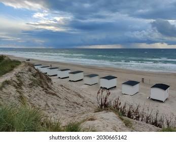 Small beachhouses at the beach
