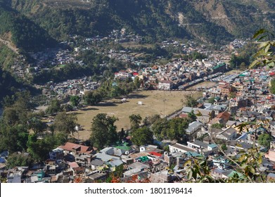 Small but a beautiful Chamba town seen from a nearby cliff