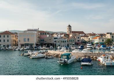 Small beautiful croatian town and harbor