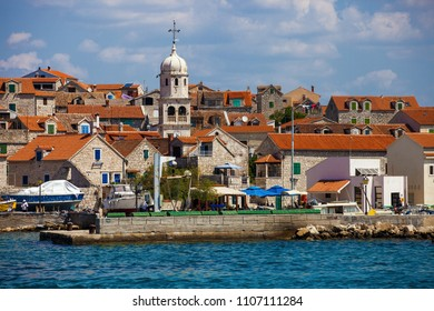 Small and beautiful town of Prvic Sepurine  on island Prvic, Croatia