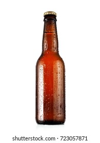 Small beer bottle with drops