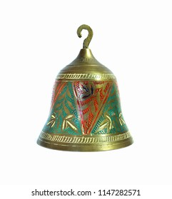 Small bell on white background