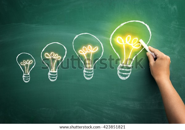 From small to big idea concept of how small idea become a big one