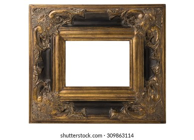 Small black and gold Spanish Baroque picture frame